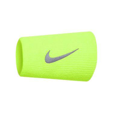 Nike Tennis Premier Doublewide Wristbands - Volt Glow/Light Carbon