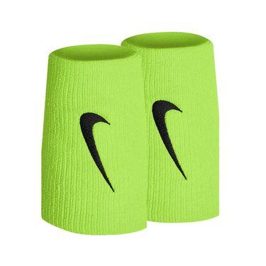 Nike Tennis Premier Doublewide Wristbands - Volt/Black