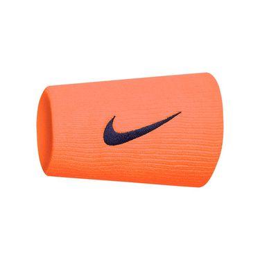 Nike Tennis Premier Doublewide Wristbands - Orange/Obsidian