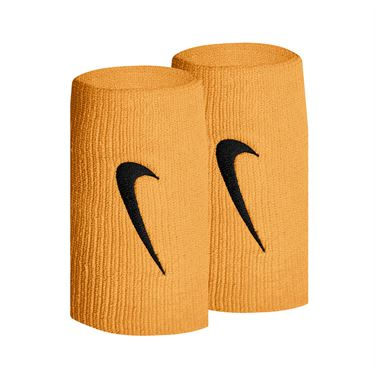 Nike Tennis Premier Doublewide Wristbands - Laser Orange/Black