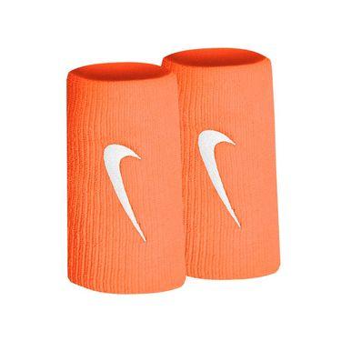Nike Tennis Premier Doublewide Wristbands - Hyper Crimson/White