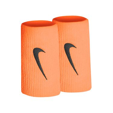 Nike Tennis Premier Doublewide Wristbands - Total Orange/Gridiron
