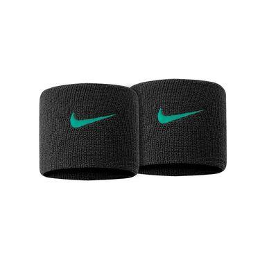 Nike Tennis Premier Wristbands - Black/Lucid Green