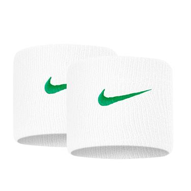 Nike Tennis Premier Wristbands - White/Lucid Green