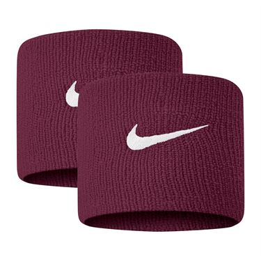 Nike Tennis Premier Wristbands - Dark Beetroot/White