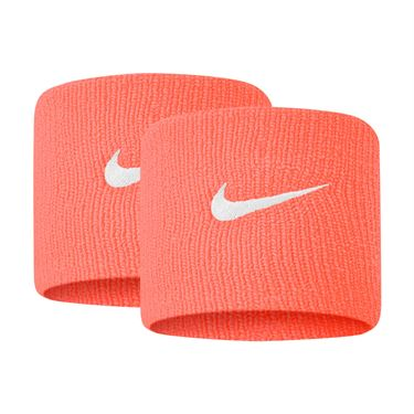 Nike Tennis Premier Wristbands - Bright Mango/White
