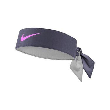 Nike Tennis Headband - Thunder Grey/Laser Fuchsia
