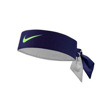 Nike Tennis Graphic Headband - Blackened Blue/Ghost Green