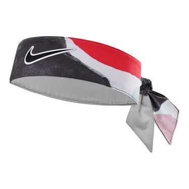 Nike Tennis Graphic Headband - Gridiron/Laser Crimson
