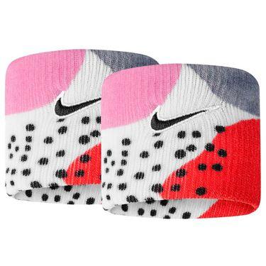 Nike Tennis Graphic Premier Wristbands - Gridiron/Laser Crimson