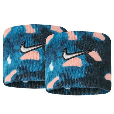 Nike Tennis Graphic Premier Wristbands - Valerian Blue/Washed Coral