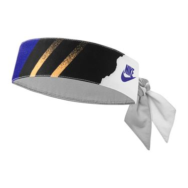Nike Tennis Graphic Headband - Blackened Blue/Ghost Green