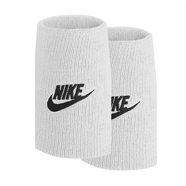 Nike Tennis Premier Doublewide Wristbands - White/Black Crimson