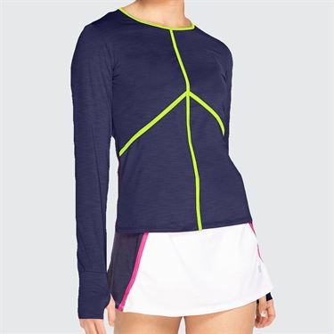 Eleven Neon Dreams Victory Long Sleeve Sunshirt Womens Blue Nights ND3276 405