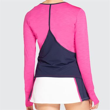 Eleven Neon Dreams Victory Long Sleeve Sunshirt Womens Hot Pink ND3276 657