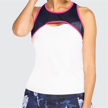 Eleven Neon Dreams Zoom Tank Top Womens White/Hot Pink ND6756 657