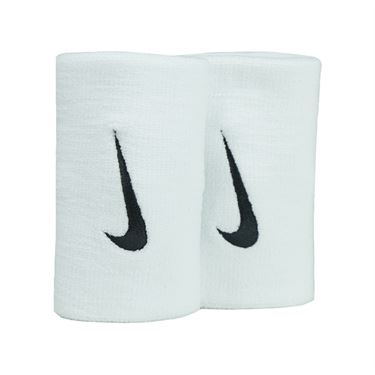 Nike Premier Doublewide Wristbands- White/Black