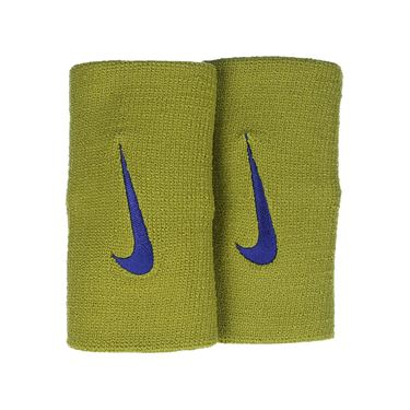 Nike Tennis Premier Doublewide Wristband - Peat Moss/Blue Void