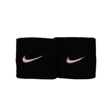 Nike Tennis Premier Wristbands - Black/Coral Stardust