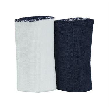 Nike Dri-FIT Home and Away Doublewide Wristbands-Obsidian/White