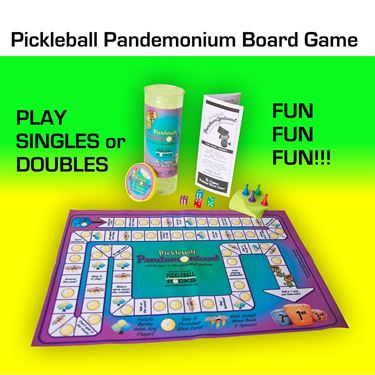 Pickleball Rocks Pickleball Pandemonium Board Game PBRBG