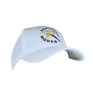 Pickleball Rocks Dri Fit Hat - White