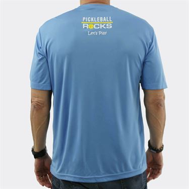 Pickleball Rocks My Partner Rocks Crew Shirt - Blue