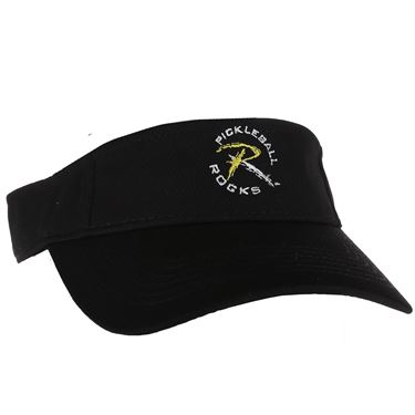 Pickleball Rocks Visor - Black