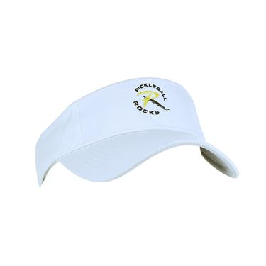 Pickleball Rocks Visor - White