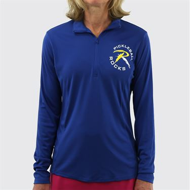 Pickleball Rocks 1/4 Zip - Royal Blue