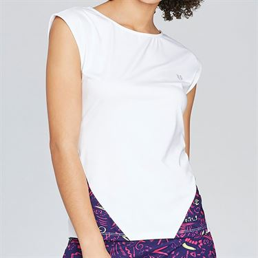 Eleven Prima Donna Backup Cap Sleeve Top - White