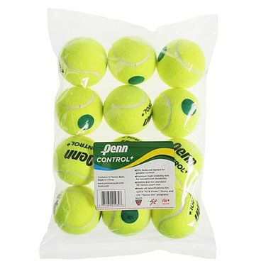 Penn Control Plus Green Dot Tennis Balls (12 pack)
