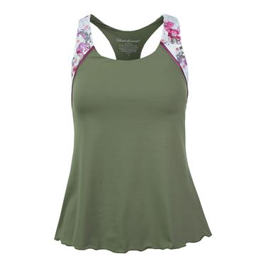 Denise Cronwall Army of Lovers Racerback Tank - Green