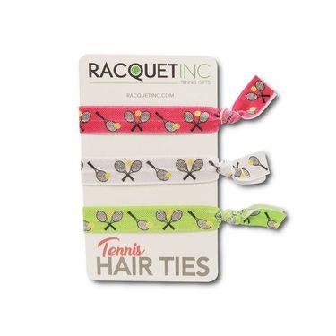 Racquet Inc Tennis Hair Tie - Blue/Pink/Green