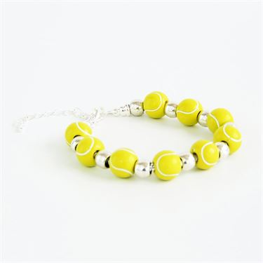 Racquet Inc Tennis Bracelet - Silver/Yellow