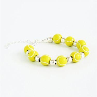 Racquet Inc Tennis Bracelet - Silver/Yellow