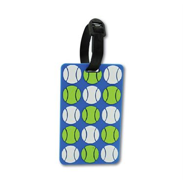 Racquet Inc Bag Tags - Tennis Balls Blue/Green