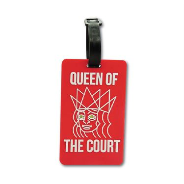 Racquet Inc Bag Tags Queen of Court - Red/White