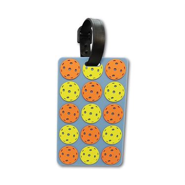 Racquet Inc Bag Tags Pickleball Balls - Orange/Yellow/Grey
