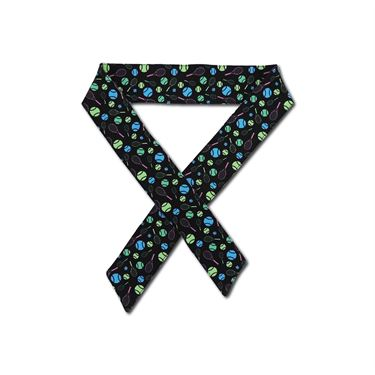 Racquet Inc Tennis Headband Tie - Black/Green/Pink/Blue