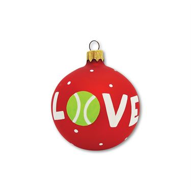 Racquet Inc Holiday Ornament - Love Red