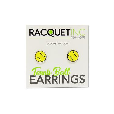 Racquet Inc Tennis Earrings - Silver/Yellow