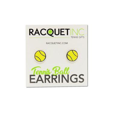 Racquet Inc Tennis Earrings - Silver/Yellow