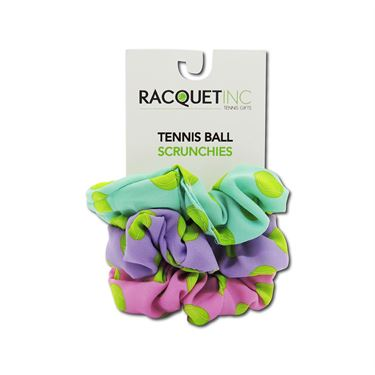 Racquet Inc Tennis Ball Scrunchies - Pink/Blue/Purple