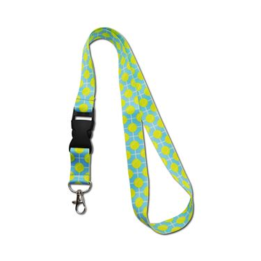 Racquet Inc Tennis Lanyard - Blue/Yellow