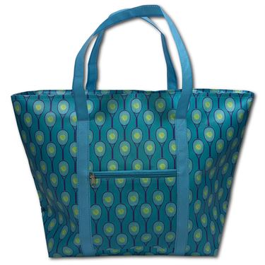 Racquet Inc Cooler Tote - Teal/Purple/Yellow
