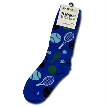 Racquet Inc Novelty Socks - Blue/Green/White/Black