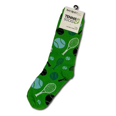 Racquet Inc Novelty Socks - Green/Blue/White