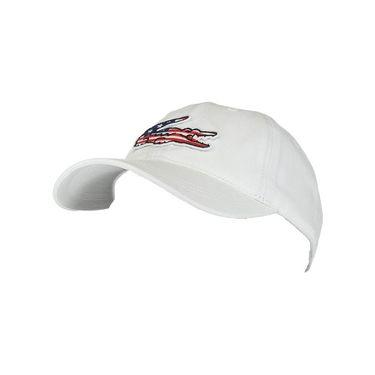 Lacoste Big Croc USA Gabardine Hat - Blanc