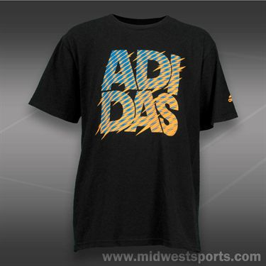 adidas Kids Graphic Tee-Black/Solar Blue